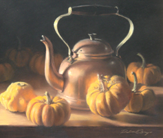 "Deborah Bays""Copper With Pumpkin And Gourd"""