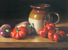 "Deborah Bays""Cider Pitcher With Red Peppers"""
